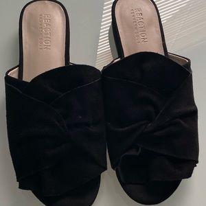 KCole REACTION Vanya black suede sandal mule slide
